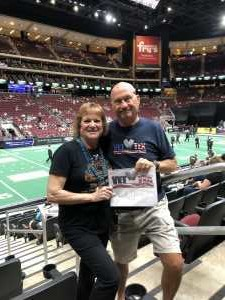 Larry attended Arizona Rattlers V. Opponent TBD - IFL - 2019 Conference Championship **played at Gila River Arena on Jun 29th 2019 via VetTix