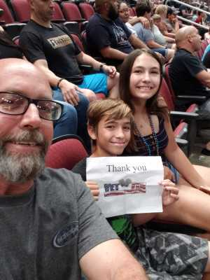 Jim Sivigny  attended Arizona Rattlers V. Opponent TBD - IFL - 2019 Conference Championship **played at Gila River Arena on Jun 29th 2019 via VetTix