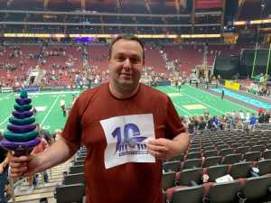 thomas attended Arizona Rattlers V. Opponent TBD - IFL - 2019 Conference Championship **played at Gila River Arena on Jun 29th 2019 via VetTix