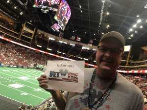 Gregory attended Arizona Rattlers V. Opponent TBD - IFL - 2019 Conference Championship **played at Gila River Arena on Jun 29th 2019 via VetTix