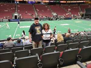 Maria attended Arizona Rattlers V. Opponent TBD - IFL - 2019 Conference Championship **played at Gila River Arena on Jun 29th 2019 via VetTix