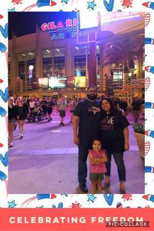David attended Arizona Rattlers V. Opponent TBD - IFL - 2019 Conference Championship **played at Gila River Arena on Jun 29th 2019 via VetTix