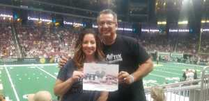 chris attended Arizona Rattlers V. Opponent TBD - IFL - 2019 Conference Championship **played at Gila River Arena on Jun 29th 2019 via VetTix