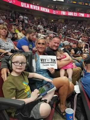 JULIE attended Arizona Rattlers V. Opponent TBD - IFL - 2019 Conference Championship **played at Gila River Arena on Jun 29th 2019 via VetTix