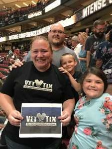 Kelly attended Arizona Rattlers V. Opponent TBD - IFL - 2019 Conference Championship **played at Gila River Arena on Jun 29th 2019 via VetTix