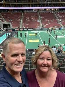 Jeffrey attended Arizona Rattlers V. Opponent TBD - IFL - 2019 Conference Championship **played at Gila River Arena on Jun 29th 2019 via VetTix