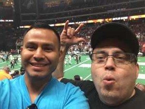 Jesus attended Arizona Rattlers V. Opponent TBD - IFL - 2019 Conference Championship **played at Gila River Arena on Jun 29th 2019 via VetTix