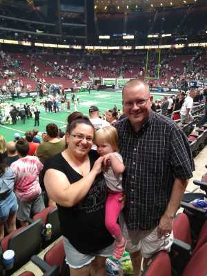 Joseph attended Arizona Rattlers V. Opponent TBD - IFL - 2019 Conference Championship **played at Gila River Arena on Jun 29th 2019 via VetTix