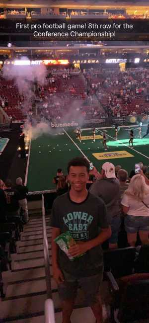 Houston attended Arizona Rattlers V. Opponent TBD - IFL - 2019 Conference Championship **played at Gila River Arena on Jun 29th 2019 via VetTix
