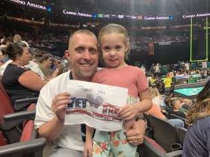 Justin attended Arizona Rattlers V. Opponent TBD - IFL - 2019 Conference Championship **played at Gila River Arena on Jun 29th 2019 via VetTix