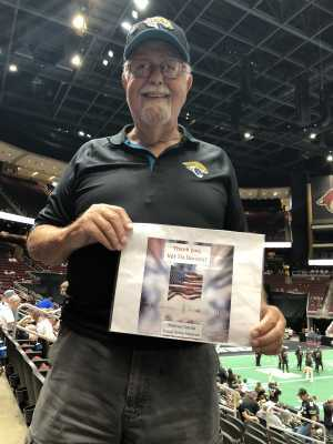 Michael D attended Arizona Rattlers V. Opponent TBD - IFL - 2019 Conference Championship **played at Gila River Arena on Jun 29th 2019 via VetTix