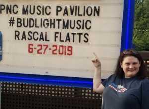 Paula katie attended Rascal Flatts: Summer Playlist Tour 2019 - Country on Jun 27th 2019 via VetTix