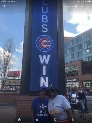 Lynda attended Chicago Cubs vs. Seattle Mariners - MLB on Sep 2nd 2019 via VetTix