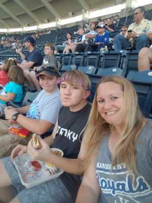 Aubrey attended Kansas City Royals vs. Cleveland Indians - MLB on Jul 3rd 2019 via VetTix