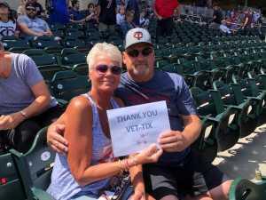 Bruce attended Minnesota Twins vs Oakland Athletics - MLB on Jul 21st 2019 via VetTix
