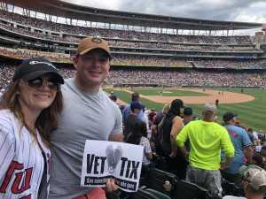 Nicholas attended Minnesota Twins vs Oakland Athletics - MLB on Jul 21st 2019 via VetTix