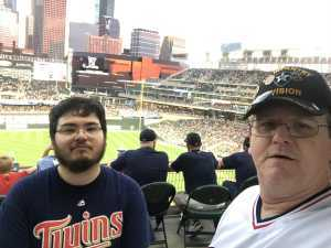James attended Minnesota Twins vs Oakland Athletics - MLB on Jul 18th 2019 via VetTix