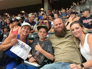 Tammy MSgt, Retired USAFR attended Minnesota Twins vs Oakland Athletics - MLB on Jul 18th 2019 via VetTix