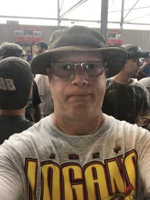 Nathan attended Bojangles' Southern 500 - Monster Energy NASCAR Cup Series on Sep 1st 2019 via VetTix