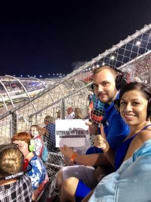 Ryan attended Bojangles' Southern 500 - Monster Energy NASCAR Cup Series on Sep 1st 2019 via VetTix