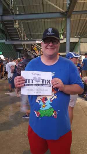 Derrick attended Bojangles' Southern 500 - Monster Energy NASCAR Cup Series on Sep 1st 2019 via VetTix