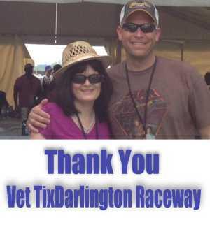 Richard attended Bojangles' Southern 500 - Monster Energy NASCAR Cup Series on Sep 1st 2019 via VetTix