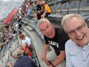 Cameron attended Bojangles' Southern 500 - Monster Energy NASCAR Cup Series on Sep 1st 2019 via VetTix