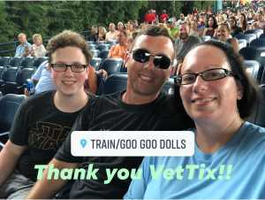 Duane attended Train & Goo Goo Dolls - Pop on Jul 14th 2019 via VetTix
