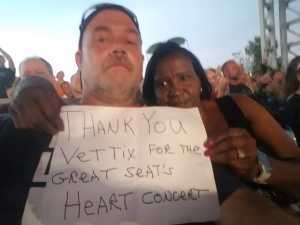 ronald attended Heart: Love Alive Tour - Pop on Jul 9th 2019 via VetTix