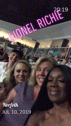 Sherri attended Lionel Richie - R&b on Jul 10th 2019 via VetTix