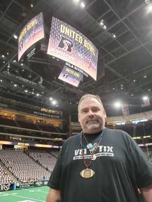 Shannon attended Arizona Rattlers vs. Sioux Falls Storm - IFL - 2019 United Bowl on Jul 13th 2019 via VetTix