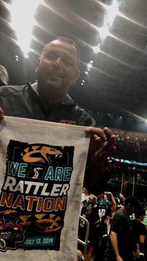 1SG Armenta attended Arizona Rattlers vs. Sioux Falls Storm - IFL - 2019 United Bowl on Jul 13th 2019 via VetTix