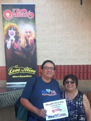 John attended Heart: Love Alive Tour - Pop on Jul 11th 2019 via VetTix
