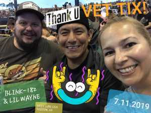 JC attended Blink-182 & Lil Wayne - Pop on Jul 11th 2019 via VetTix