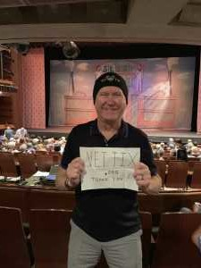 Ron S. from Mesa, AZ attended The Pajama Game Starring Cory Mccloskey - Tempe Center for the Arts on Jul 11th 2019 via VetTix
