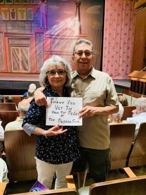 Ernest attended The Pajama Game Starring Cory Mccloskey - Tempe Center for the Arts on Jul 11th 2019 via VetTix