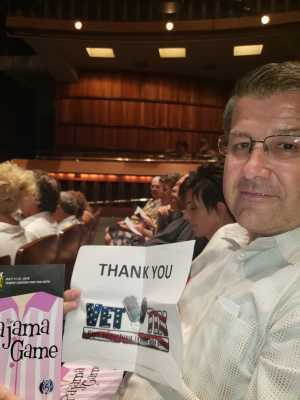 Brian attended The Pajama Game Starring Cory Mccloskey - Tempe Center for the Arts on Jul 12th 2019 via VetTix