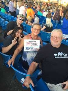 TONY attended Chris Young: Raised on Country Tour - Country on Jul 11th 2019 via VetTix