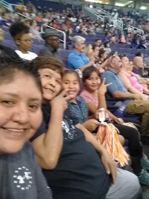 Michelle attended Phoenix Mercury vs. Atlanta Dream - WNBA on Jul 7th 2019 via VetTix