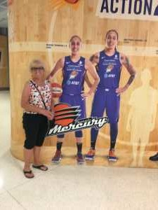 Donna attended Phoenix Mercury vs. Atlanta Dream - WNBA on Jul 7th 2019 via VetTix
