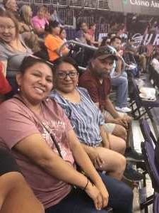 Shynowah attended Phoenix Mercury vs. Atlanta Dream - WNBA on Jul 7th 2019 via VetTix