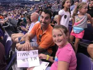 Martin attended Phoenix Mercury vs. Atlanta Dream - WNBA on Jul 7th 2019 via VetTix