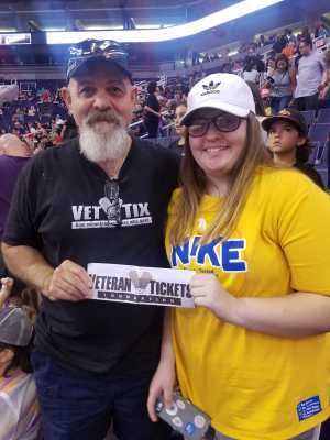 Donald attended Phoenix Mercury vs. Atlanta Dream - WNBA on Jul 7th 2019 via VetTix