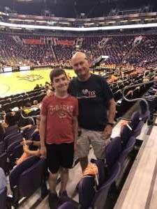 Larry attended Phoenix Mercury vs. New York Liberty - WNBA on Jul 5th 2019 via VetTix