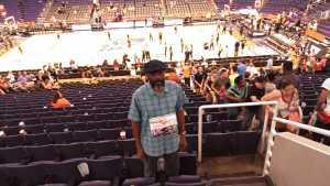 Vernon attended Phoenix Mercury vs. New York Liberty - WNBA on Jul 5th 2019 via VetTix