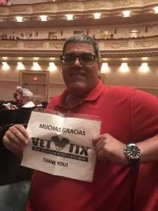 EDWIN attended Sweet Charity Choir: Live at Carnegie Hall on Jul 15th 2019 via VetTix
