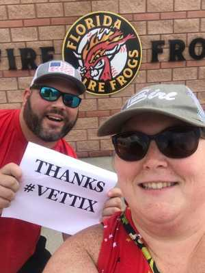 Shawn attended Florida Fire Frogs vs. Charlotte Stone Crabs - MiLB on Jul 11th 2019 via VetTix