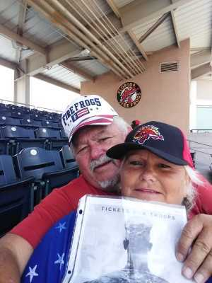 Patty & Dennis, attended Florida Fire Frogs vs. Charlotte Stone Crabs - MiLB on Jul 11th 2019 via VetTix