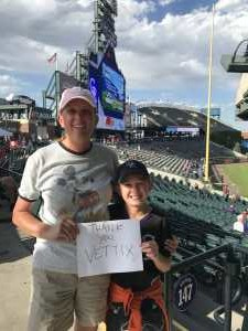 Jennifer attended Colorado Rockies vs. Arizona Diamondbacks - MLB on Aug 12th 2019 via VetTix