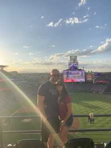 Gina attended Colorado Rockies vs. Arizona Diamondbacks - MLB on Aug 12th 2019 via VetTix